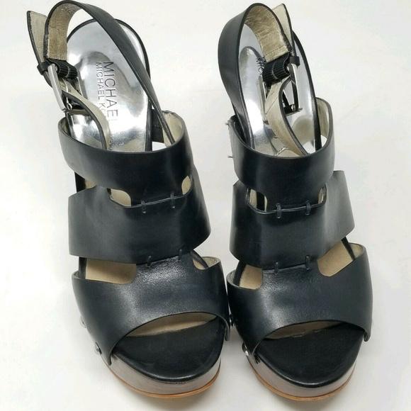 248ea61199e Michael Kors Ankle Strap Platform Heels. M 5c70bea2f63eea4d1cff7f6d